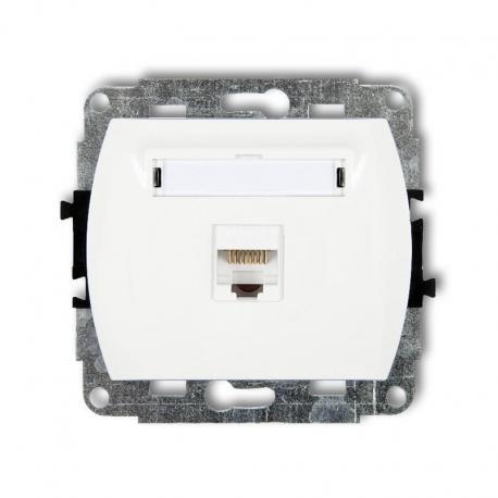 Karlik TREND Mechanizm gniazda komputerowego pojedynczego 1xRJ45, kat. 5e, 8-stykowy biały GK-1