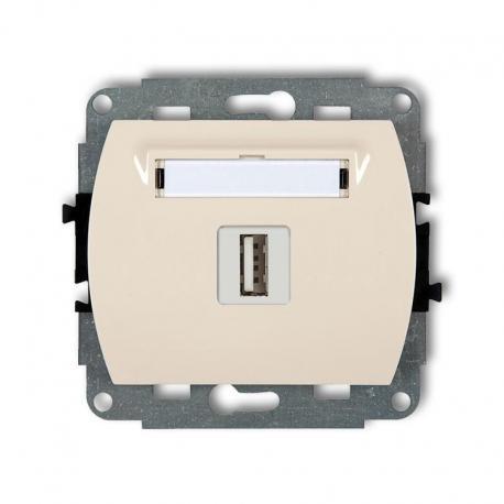 Karlik TREND Mechanizm gniazda pojedynczego USB-AA 2.0 beżowy 1GUSB-1