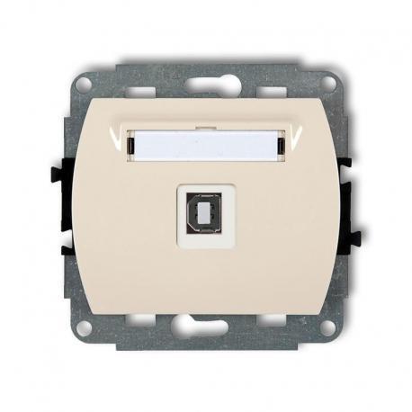 Karlik TREND Mechanizm gniazda pojedynczego USB-AB 2.0 beżowy 1GUSB-3