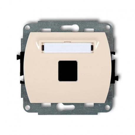 Karlik TREND Mechanizm gniazda multimedialnego pojedynczego bez modułu (standard Keystone) beżowy 1GM-1P