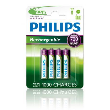Akumulator Philips R03 Ni-Mh 700mAh B4