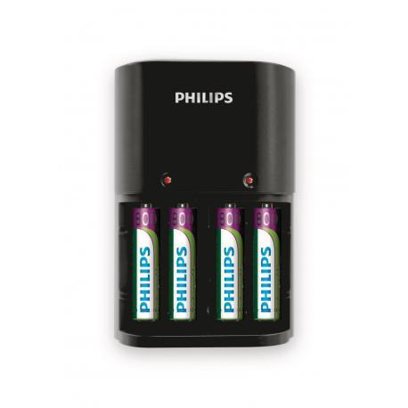 Ładowarka Philips VALUE, 4 cele, 200mA, zawiera 4 X AAA 800 mAh., do ładowania AA i AAA