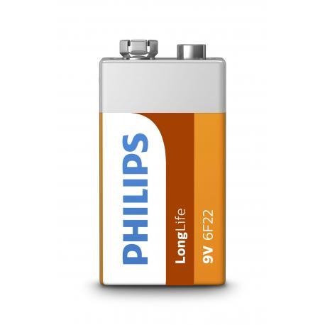 Bateria Philips 6F22 LongLife B1 blister