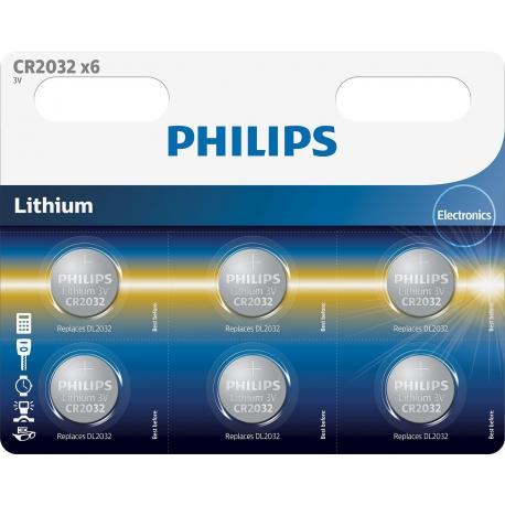 Bateria Philips CR2032P6/01B 6-pack