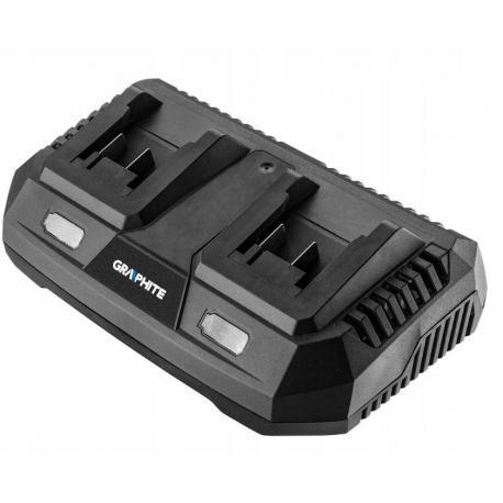 Graphite Ładowarka do akumulatorów (Ładowarka podwójna do akumulatorów Energy+)