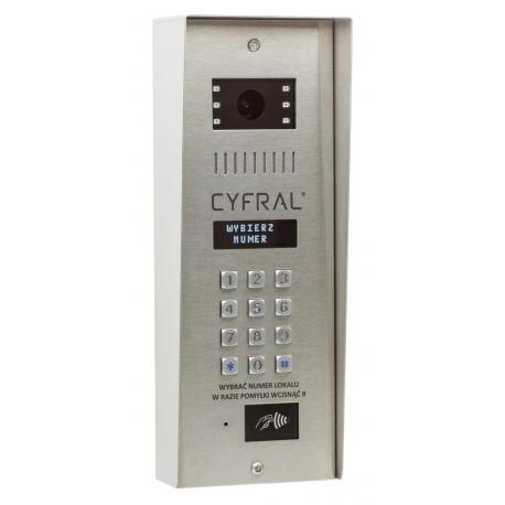 Cyfral PC-4000 RVE z wbudowaną nową elektroniką CC 4000 , kolorową kamerą , zamkiem szyfrowym i czytnikiem RFID