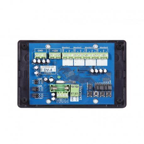 Cyfral Dystrybutor sygnału wideo DV-4 z możliwością podpięcia 4 monitorów