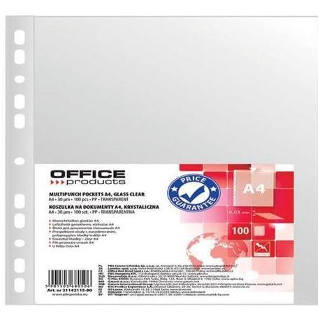 Koszulka Krystaliczna A4 Office Product/100szt/ 30u '21142115-90'