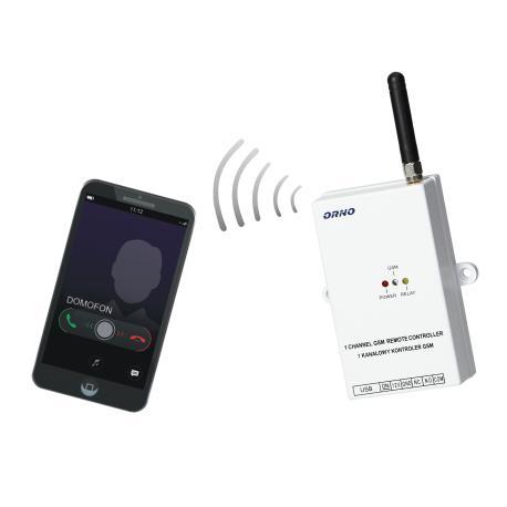 Orno Kontroler GSM do sterowania bramą, z wejściem USB