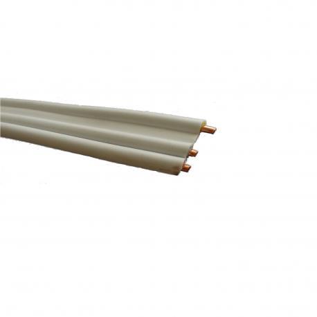 Przewód YDYt 3 x 2,5 mm2 450/750 V biały płaski 1 m