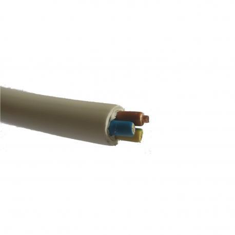 Przewód YDY 2 x 1,5 mm2 450/750 V biały okrągły 1 m