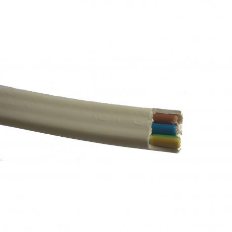 Przewód YDYp 2 x 2,5 mm2 450/750 V biały płaski 1 m